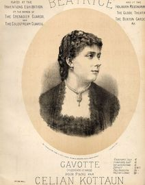 Beatrice - Gavotte pour Piano - Played at the inventions exhibition by the bads of the Grenadier guards and the Coldstream guards and at the Holborn R