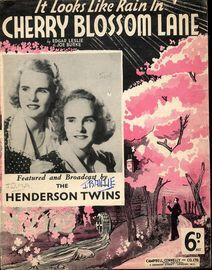 It Looks Like Rain in Cherry Blossom Lane - featuring The Henderson Twins