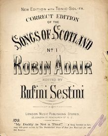 Robin Adair - Correct Edition of the Songs of Scotland