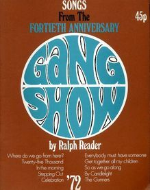 Songs From The Fortieth Anniversary Gang Show 1972 - for Piano and Voice