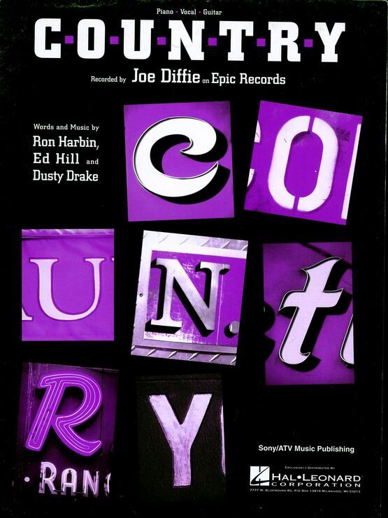 10141 | C-o-u-n-t-r-y - Recorded by Joe Diffie - Piano - Vocal - Guitar