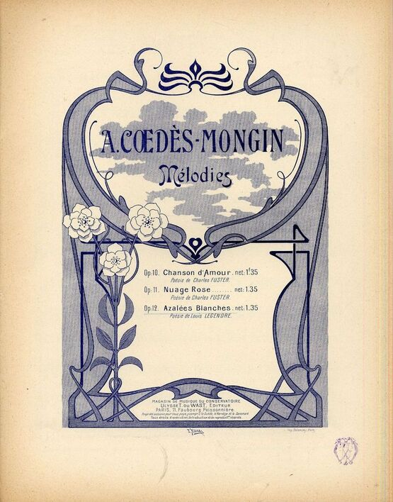 10227 | Azalees Blanches - Op. 12 - For Piano and Voice - French Edition