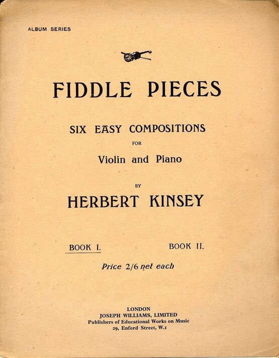 10291 | Six Easy Compositions for Violin and Piano - Book 1
