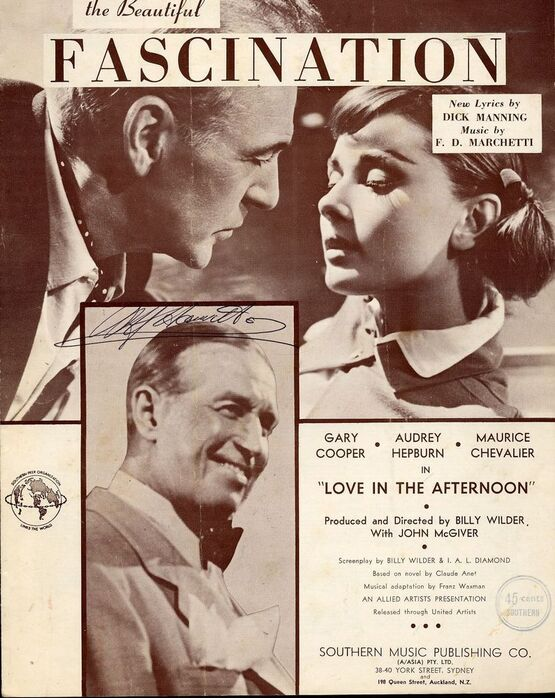 103 | Fascination - Song Featuring Audrey Hepburn, Gary Cooper and Maurice Chevalier