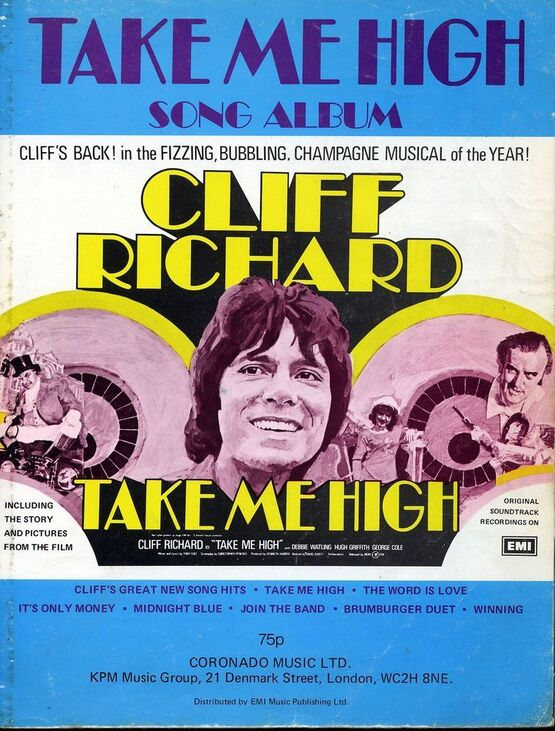 10539 | 'Take Me High' Song Album - Cliff Richard - Including The Story and Pictures From The Film