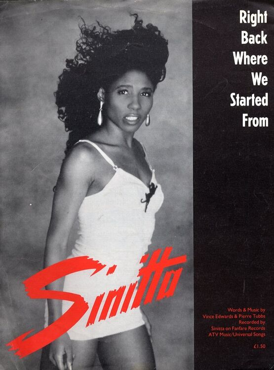 10707 | Right Back Where We Started From -  Featuring Sinitta