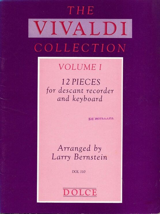 10916 | 12 Pieces for Descant Recorder and Keyboard - The Vivaldi Collection - Volume 1