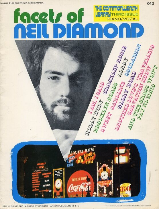 11934 | Facets of Neil Diamond - The Commonwealth Library 3rd Edition - for Piano and Vocal - Including Photos of Neil Diamond