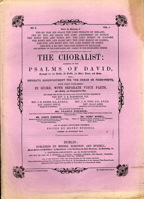 The Choralist Consisting Of The Psalms Of David Volume 1 No 10