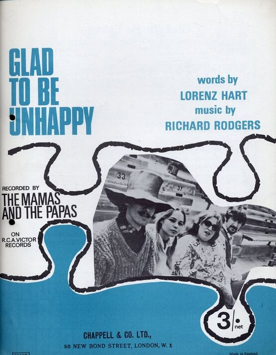 12223 | Glad to Be Unhappy - Song recorded by The Mamas and the Papas