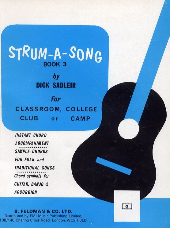 1368 | Strum-A-Song Book Three - for Classroom, College Club or Camp - Simple Chords for Folk and Traditional Songs - Chord Symbols for Guitar, Banjo and Accordion