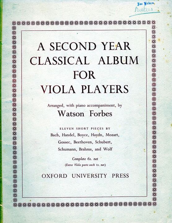 139 | A Second Year Classical Album For Viola Players - 11 Short Pieces