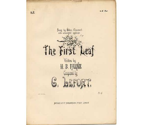 1489 | The First Leaf (La Premiere Feuille), sung by Madame Chaumont,
