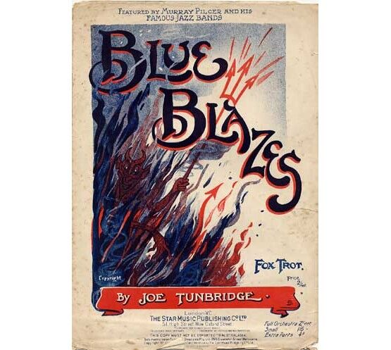 1527 | Blue Blazes - fox trot - featured by Murray Pilcer and his famous jazz bands