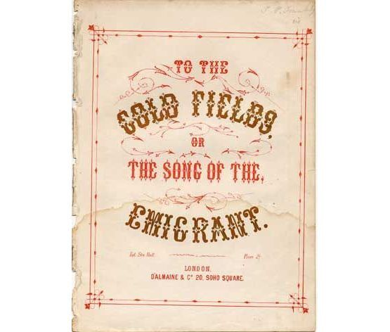 1672 | To the Gold Fields or the Song of the Emigrant,