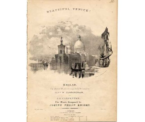 1756 | Beautiful Venice, ballad dedicated to Rev W Cunningham,