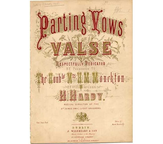 1792 | Parting Vows valse, dedicated to The Honorable Mrs H M Monckton