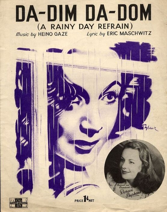 20 | Da-Dim Da-Dom (a rainy day refrain) - Featured and Broadcast by Doreen Stephens - For Piano and Voice with chord symbols
