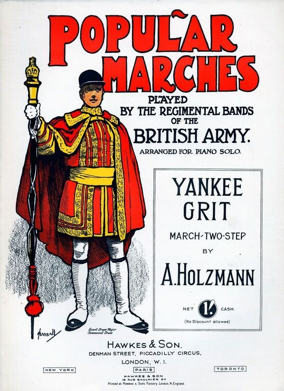 202 | Yankee Grit, march two-step. Popular Marches played by the Regimental Bands of the British Army