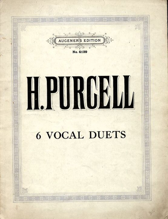 2767 | 6 Vocal Duets - Augeners Edition No. 4129