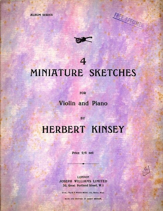 3305 | 4 Miniature Sketches for Violin and Piano