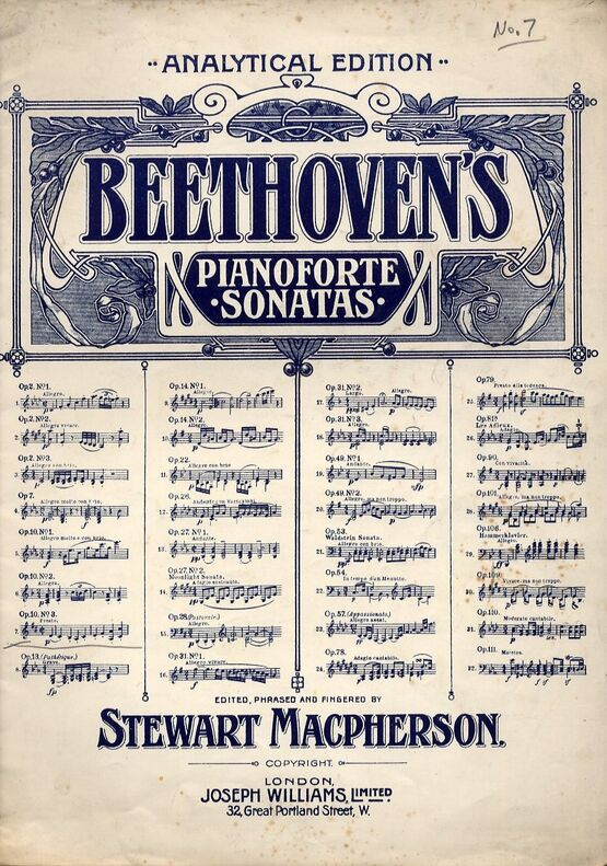 3393 | Beethoven - Sonata for Piano -  Op. 10, No. 3 - Analytical Edition - Beethoven Pianoforte Sonatas Series No. 7