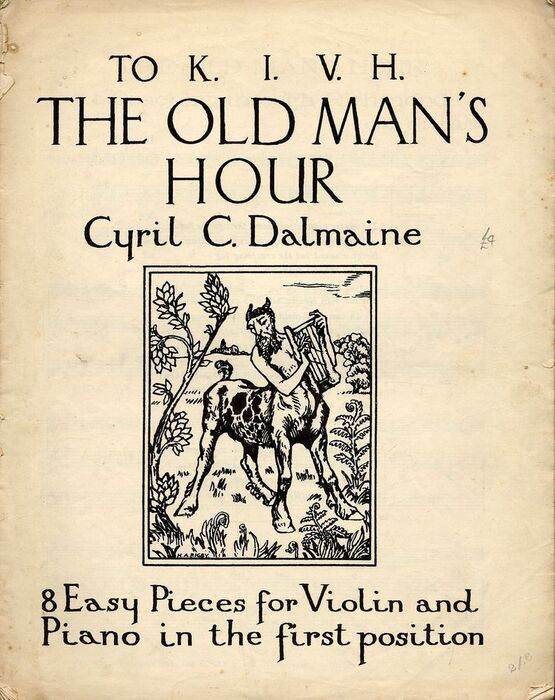 3410 | Cyril C. Dalmaine The Old Mans Hour - 8 Easy Pieces for Violin and Piano in the first position