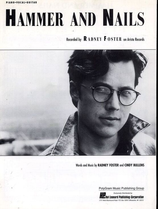 3782 | Hammer and Nails - Featuring Radney Foster - Piano - Vocal - Guitar