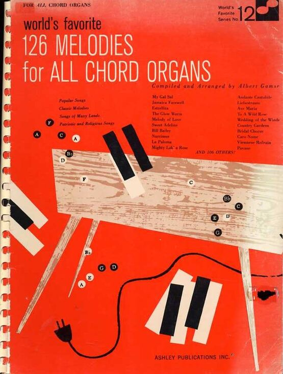 3950 | 126 Melodies for All Chord Organs - World's Favorite Series No. 12