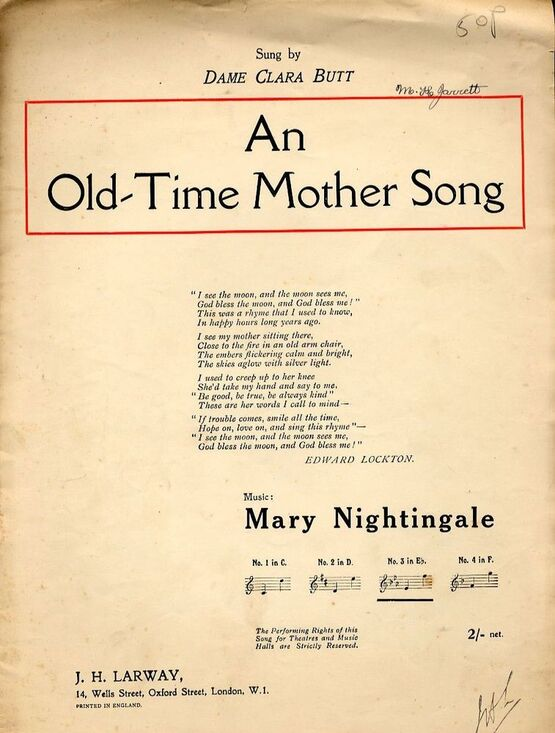 4 | An Old Time Mother Song
