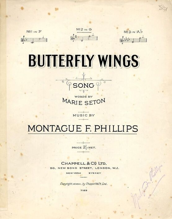 4 | Butterfly Wings - Song in the key of G major for medium voice