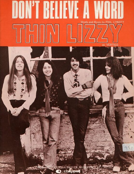 4 | Don't Believe a Word: Thin Lizzy