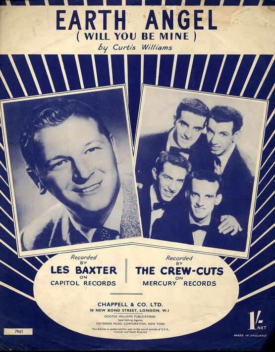 4 | Earth Angel (will you be mine) - Song - Featuring Les Baxter & The Crew Cuts