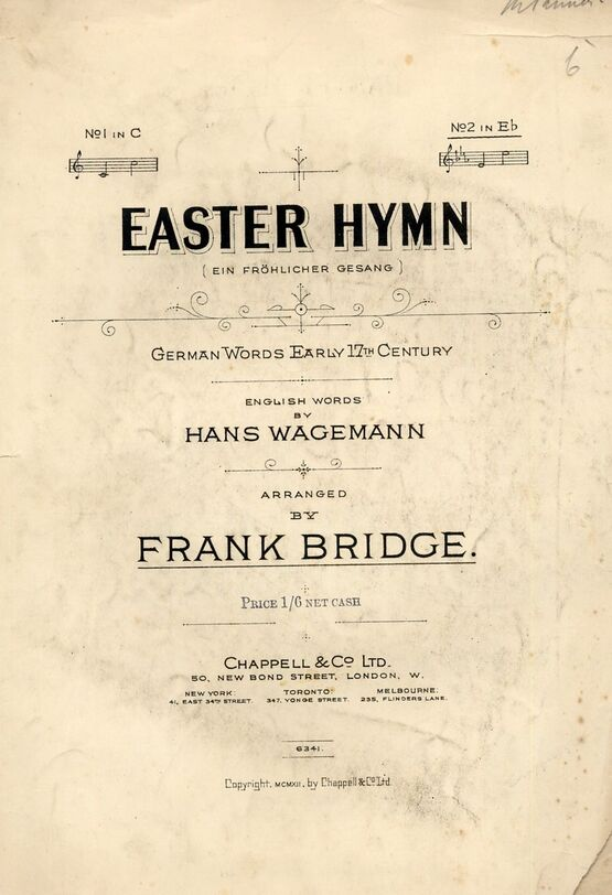 4 | Easter Hymn (German Words Early 17th Century) - Song in the key of E flat major for High Voice