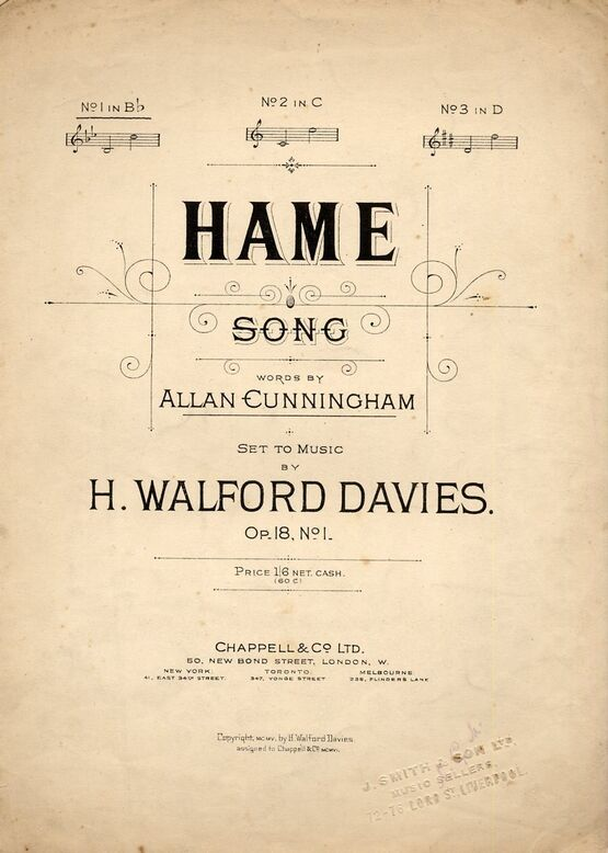 4 | Hame - Song - Key of B flat major for Low Voice - Op. 18, No. 1