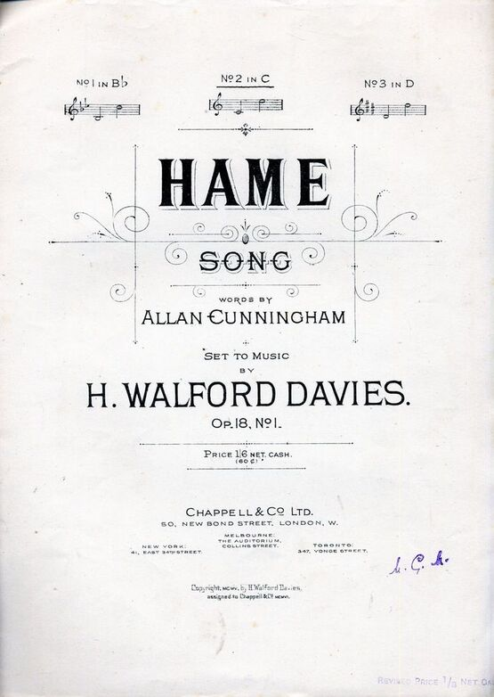 4 | Hame - Song - Key of C major for Medium Voice - Op. 18, No. 1