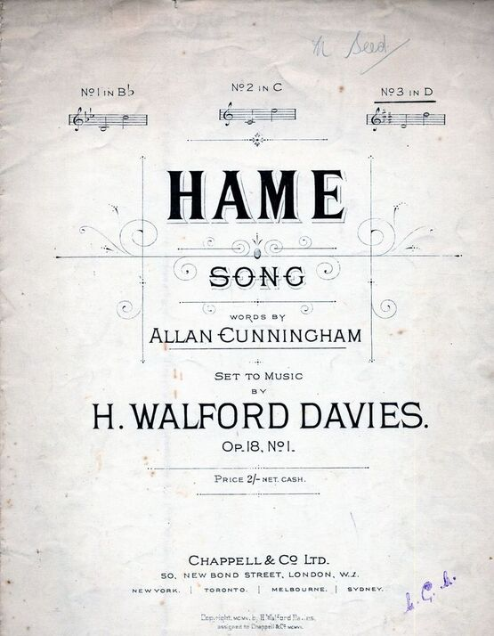 4 | Hame - Song - Key of D major for High Voice - Op. 18, No. 1