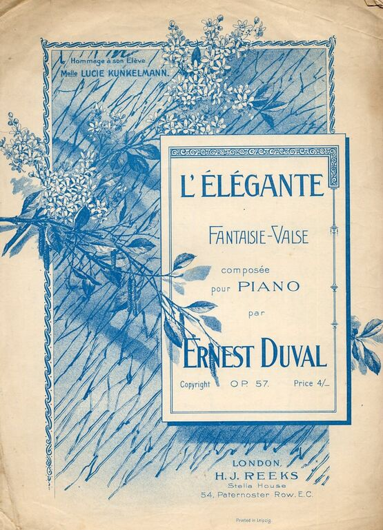 4 | L Elegante fantaisie. Valse for piano solo. Op. 57
