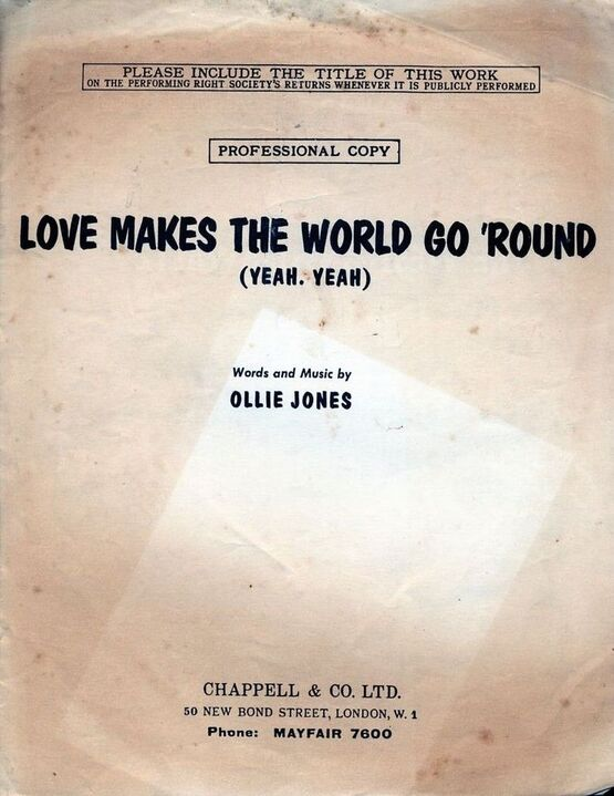 4 | Love Makes the World Go Round (Yeah, Yeah) - Song - Professional Copy