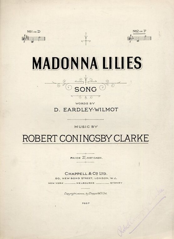 4 | Madonna Lilies - Song in the key of F Major for High Voice