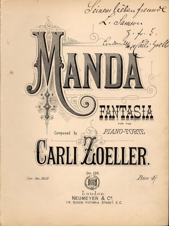 4 | Manda, Fantasia for the Pianoforte