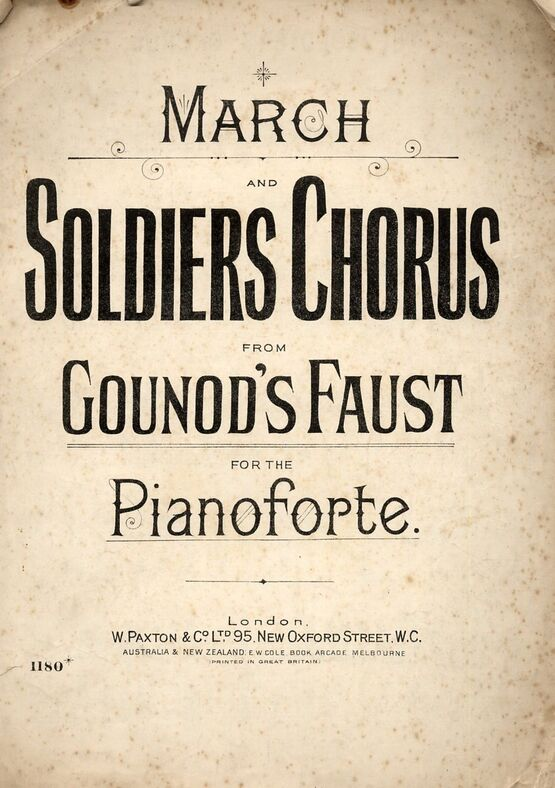 4 | March and Soldiers Chorus from Faust - Piano solo