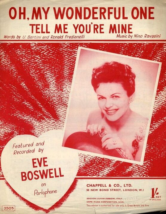 4 | Oh, My Wonderful One, Tell Me You're Mine - Featuring Eve Boswell
