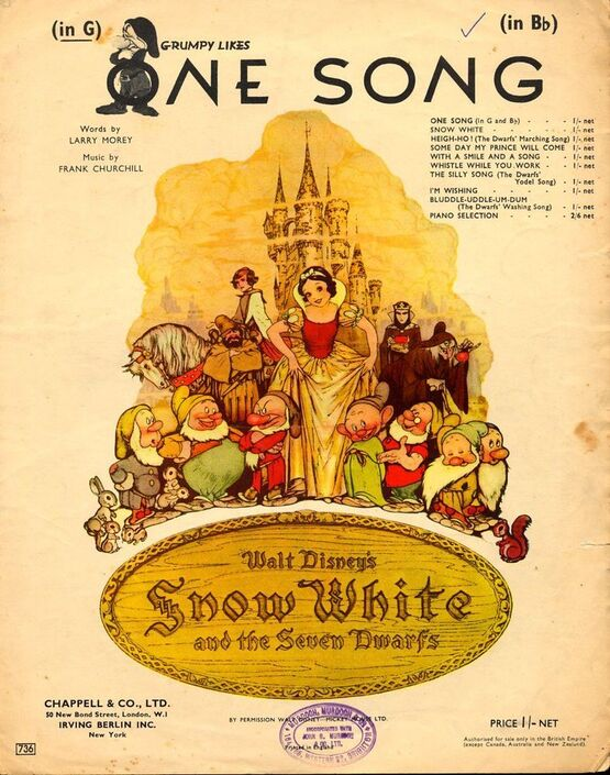 4 | One Song - From Walt Disney's Snow White and The Seven Dwarfs - In the key of G major