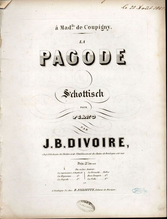 4 | Pagode. Schottisch for piano solo