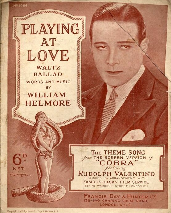 4 | Playing at Love. Theme from Cobra. Rudolph Valentino