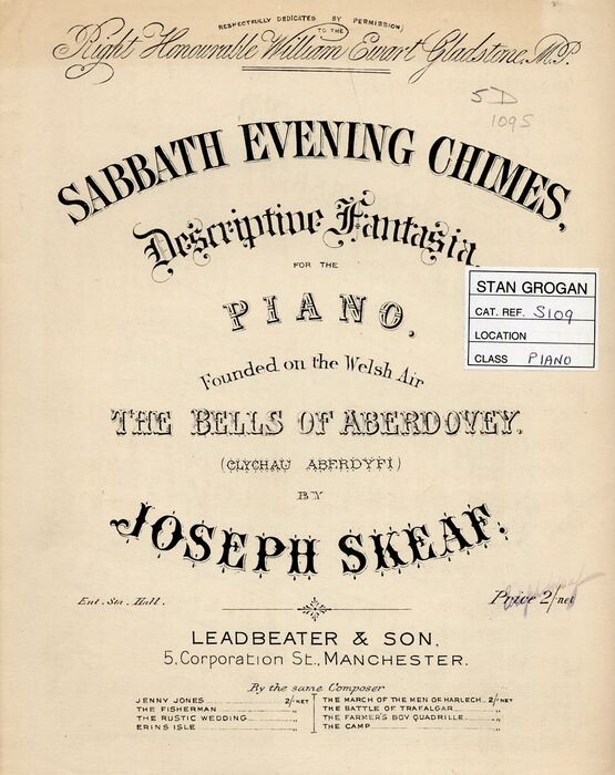 4 | Sabbath Evening Chimes. For Piano Solo - Founded on the Welsh air