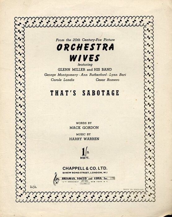 4 | That's Sabotage -  from Orchestra Wives