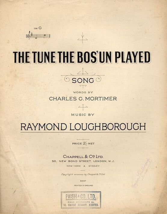4 | The Tune the Bos'un Played - In the key of G major
