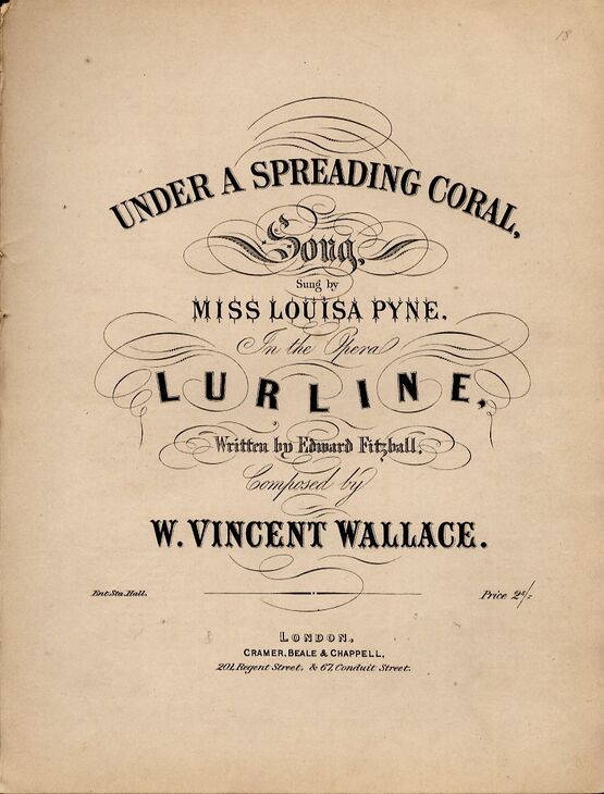 4 | Under a spreading coral, song as sung by Miss Louisa Pyne, in the Opera Lurline